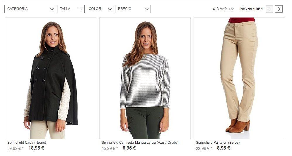 ropa springfield barata mujer