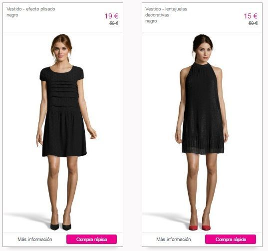 vestido negro de fiesta barato