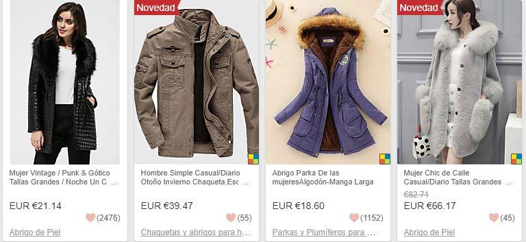 abrigos chinos baratos