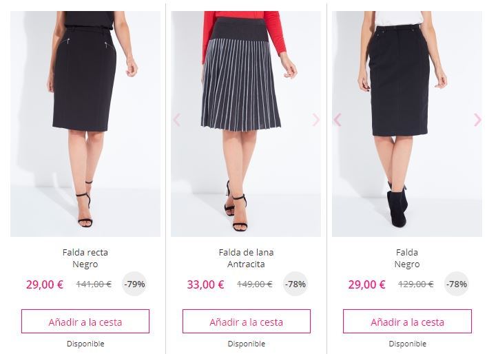 falda barata online