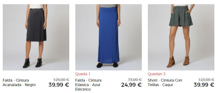 falda de mujer barata