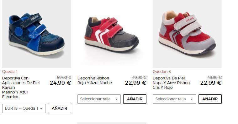 zapatos de niño geox