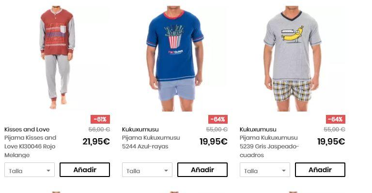 pijamas para hombre verano barato