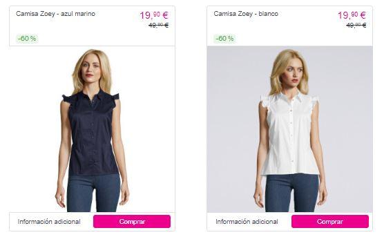 ofertas en blusas