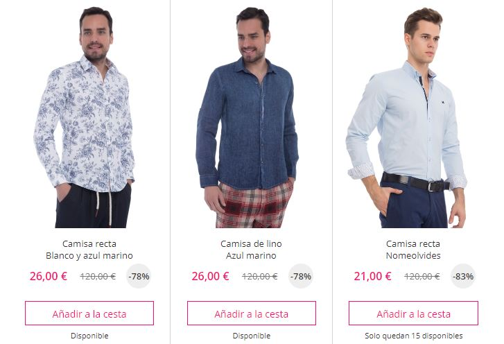camisas informales baratas
