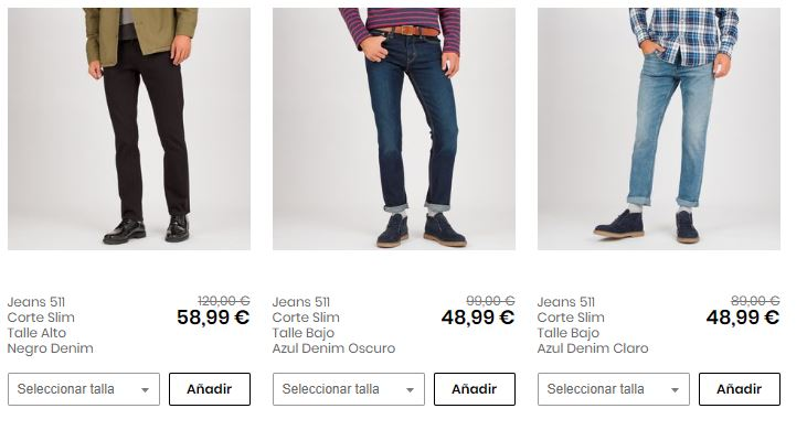 pantalones levis baratos para hombre