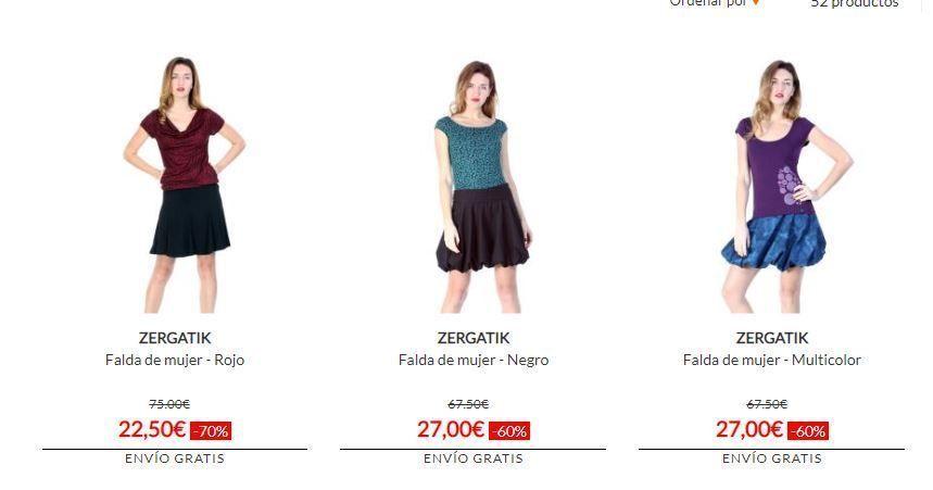 faldas en oferta