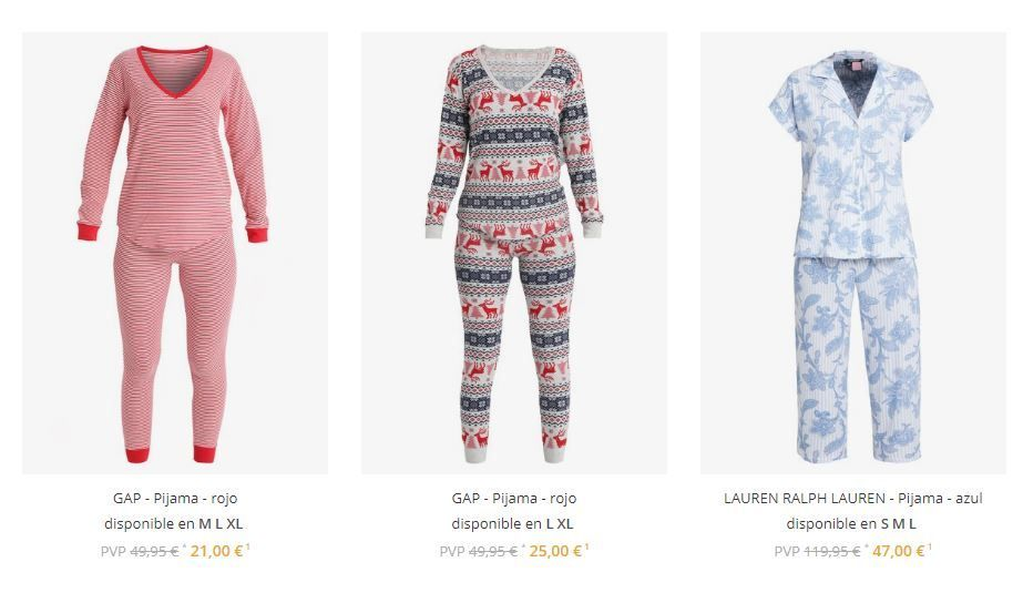 pijamas de marca rebajados