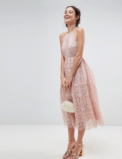 Halter Dress Ideas - Halter Neck Lace Dress