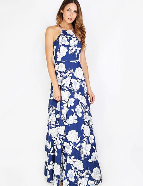 Halter Dress Ideas - Halter Neck Maxi Dress