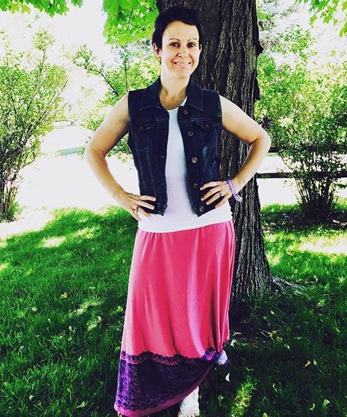 Como llevar una falda larga - Falda larga de punto