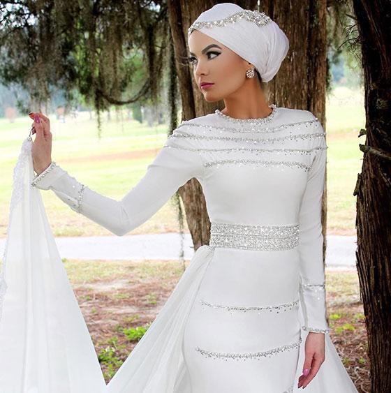 Estilo Hijab para el vestido