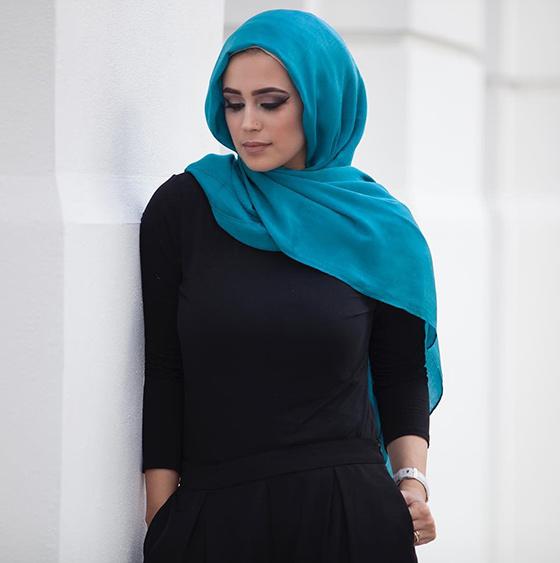 Estilo Hijab para cara ovalada