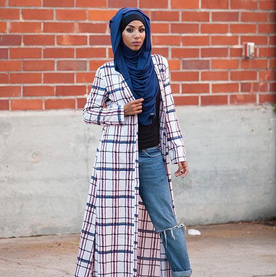 Estilo Hijab para la cara del corazón