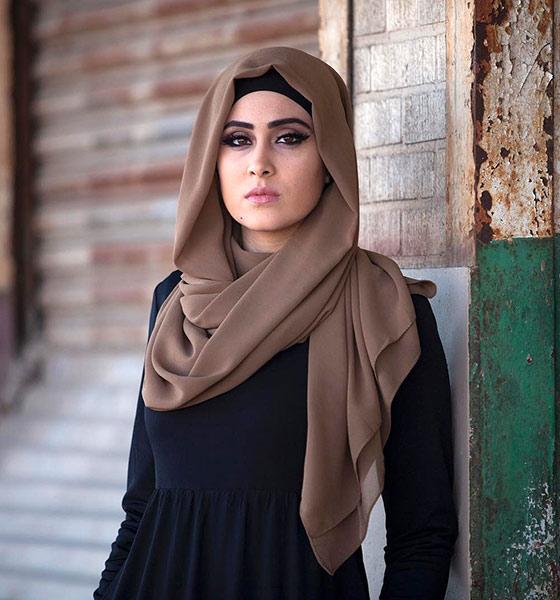 Estilo Hijab para cara cuadrada