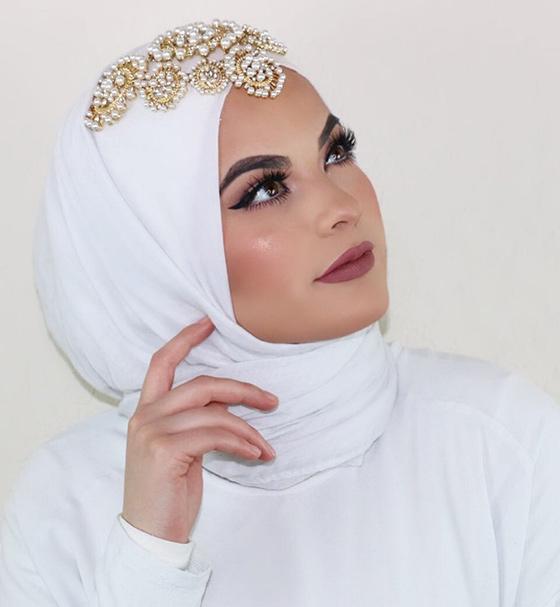 Estilo Hijab para novia novia